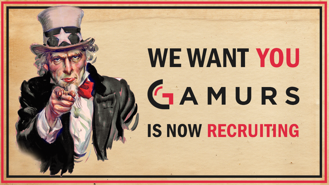 GAMURS is now Recruiting