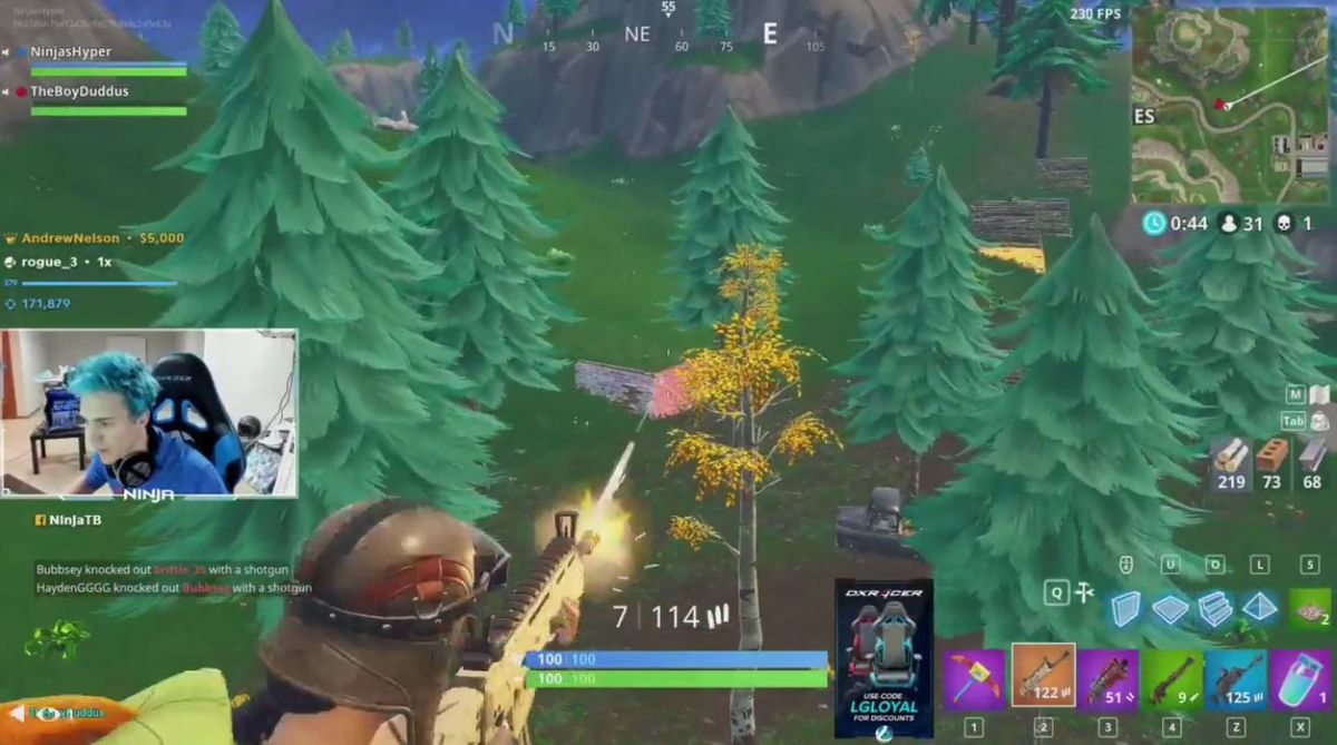 Over 600 000 Viewers Watch Twitch Streamer Ninja Play Fortnite With Rapper Drake Breaking A Twitch Record Dot Esports