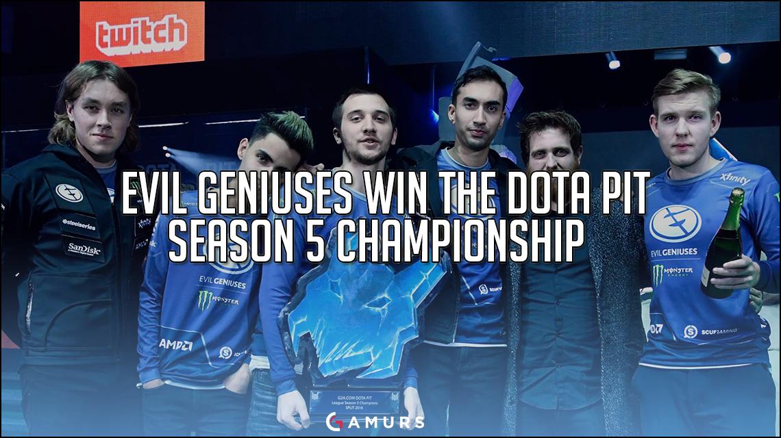 Evil Geniuses win the Dota Pit Season 5 Championship