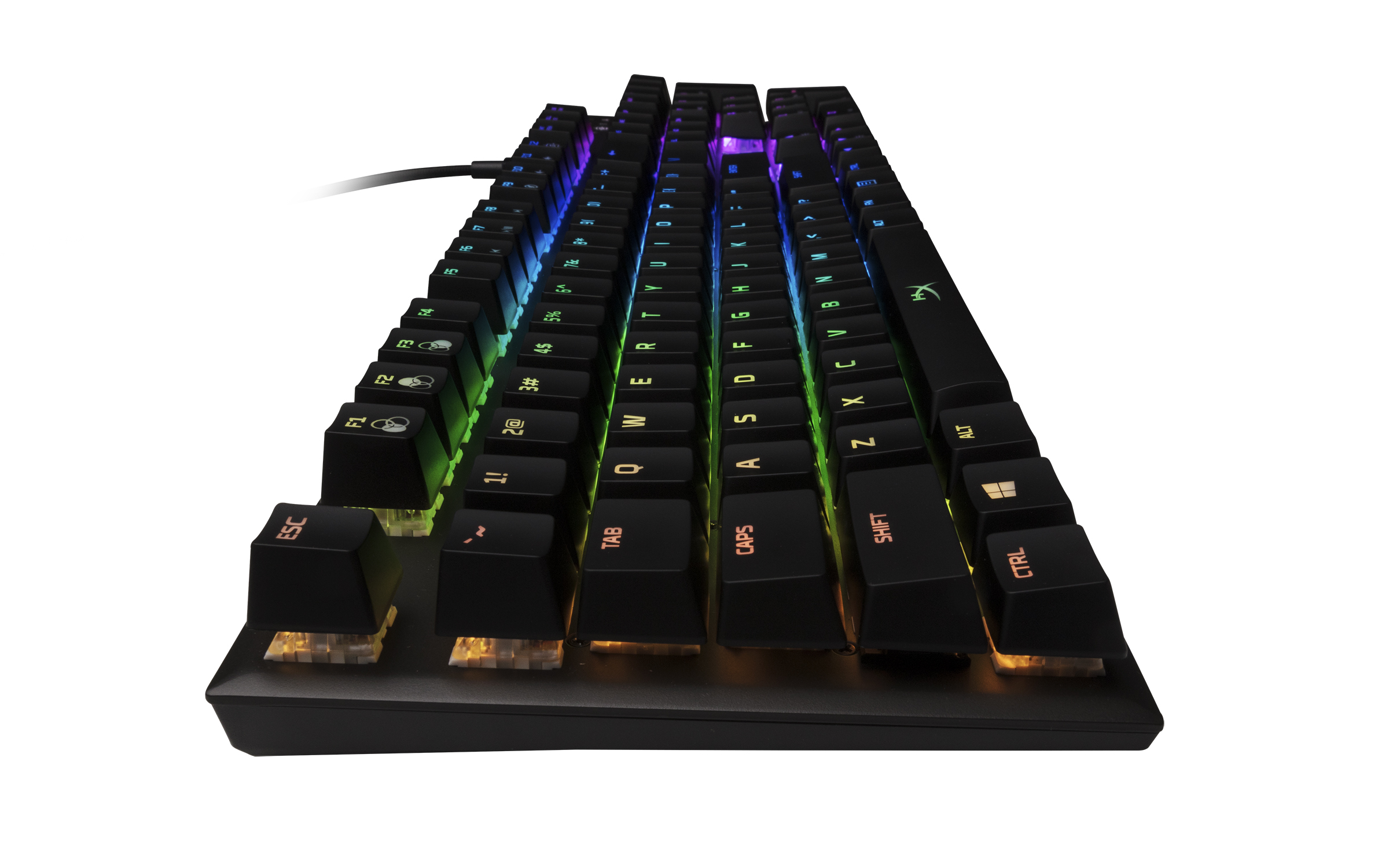 The HyperX Alloy FPS RGB Mechanical Gaming Keyboard looks and feels sleek.