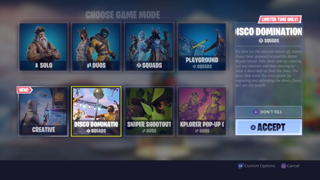 Win A Dance Battle Fortnite Disco Domination Sniper Shootout Return As Ltms For The 14 Days Of Fortnite Event Dot Esports