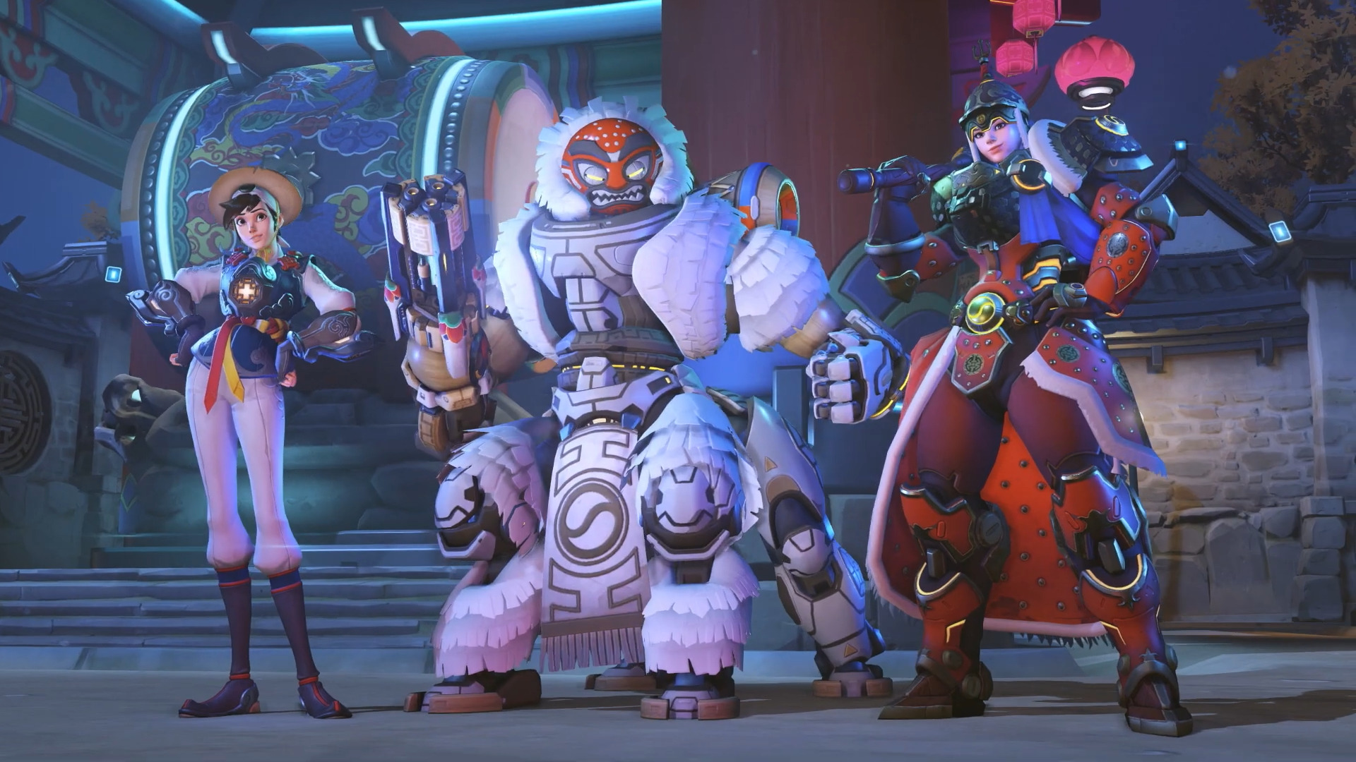 Four more Year of the Pig skins revealed overnight: Orisa, Tracer, Zenyatta, and Brigitte