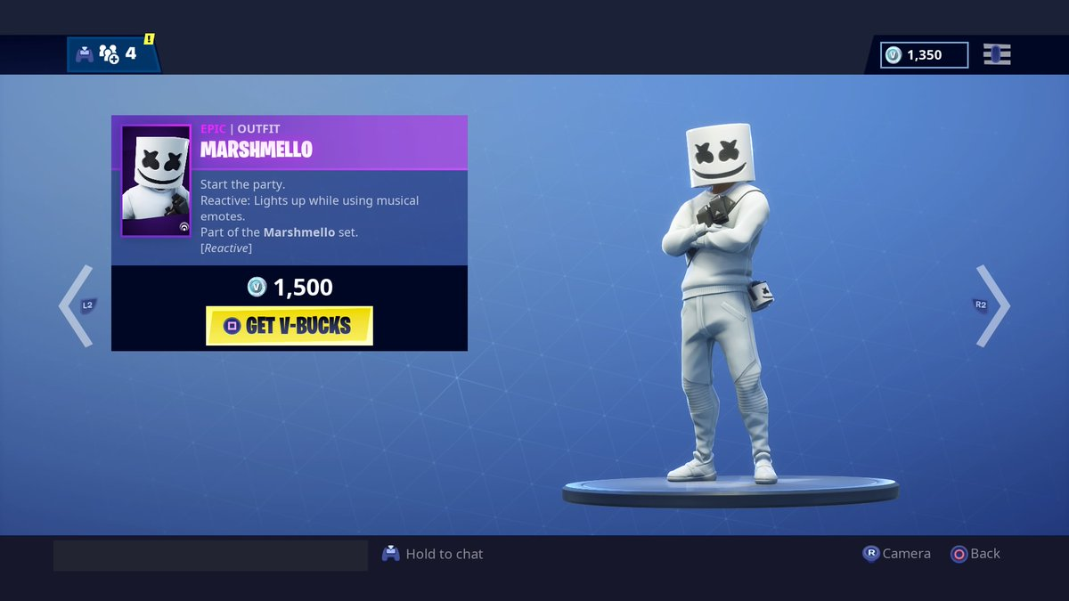 Marshmello Skin Glider And Emote Added To Fortnite S Item Shop Dot Esports Check here daily to see the updated item shop. marshmello skin glider and emote