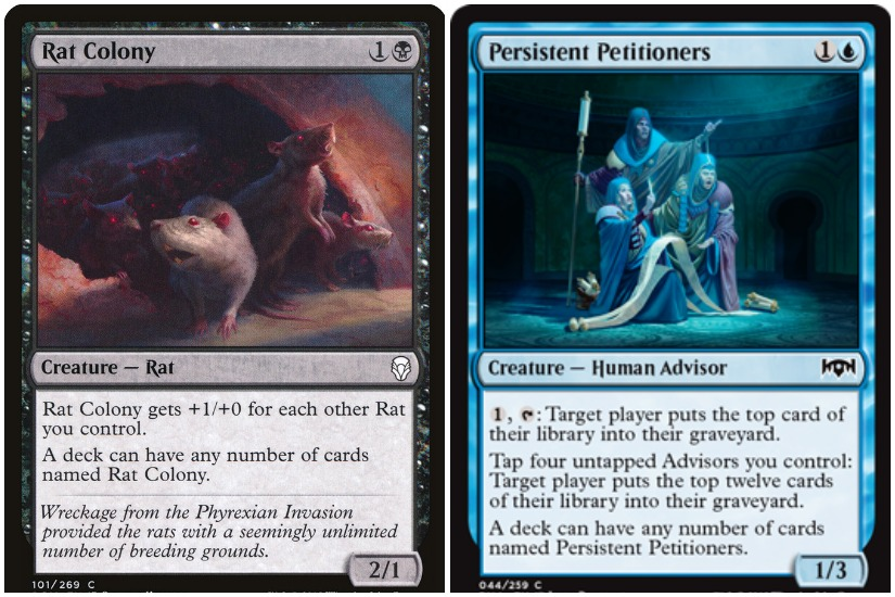 Singleton deck guide, playing against Rat Colony and Persistent Petitioners