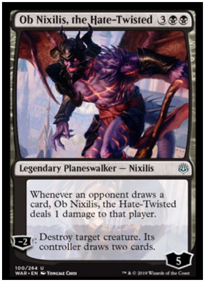 Ob Nixilis, the Hate Twisted MTG War of the Spark Planseswalker