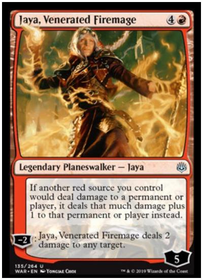 Jaya, Venerated Firemage MTG War of the Spark Planeswalker