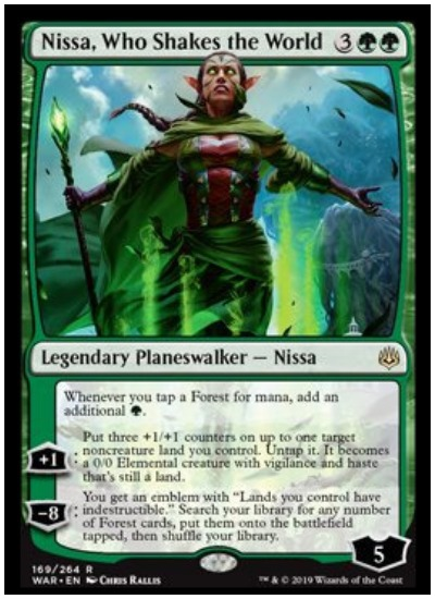 Nissa, Who Shakes the World MTG War of the Spark Planeswalker