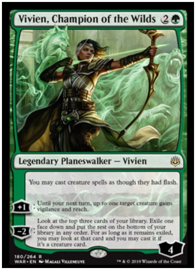 Vivien, Chamption of the Wilds MTG War of the Spark Planeswalker