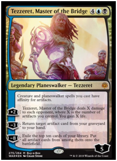 Tezzeret, Master of the Bridge MTG War of the Spark Planeswalker
