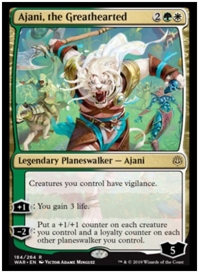 Ajani, the Greathearted MTG War of the Spark Planeswalker