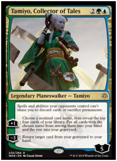 Tamiyo, Collector of Tales MTG War of the Spark Planeswalker