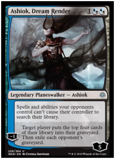Ashiok, Dream Render MTG War of the Spark Planeswalker