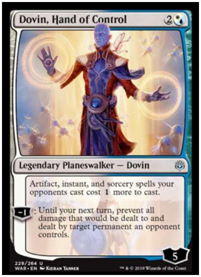 Dovin, Hand of Control MTG War of the Spark Planeswalker