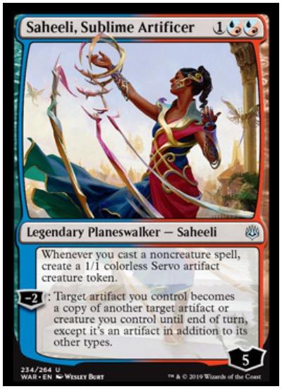 Saheeli, Sublime Artificer MTG War of the Spark Planeswalker