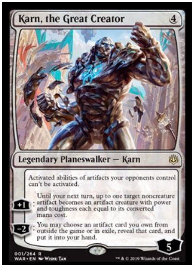 Karn, the Great Creator MTG War of the Spark Planeswalker