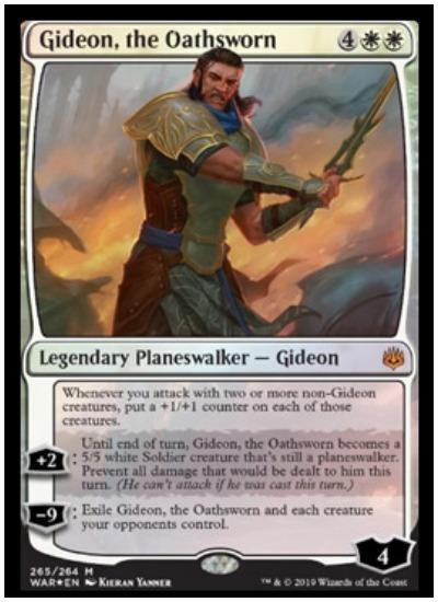 Gideon, the Oathsworn MTG War of the Spark Planeswalker
