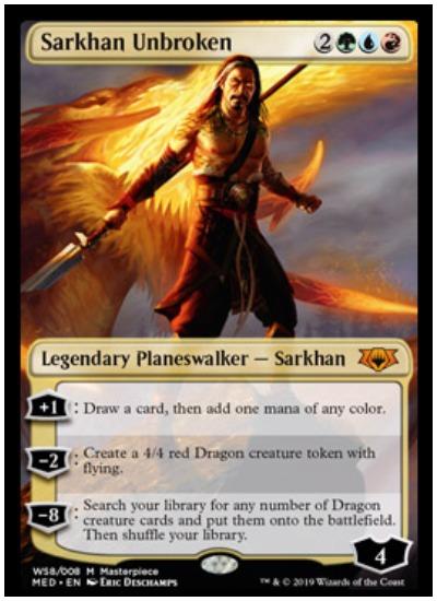 Sarkhan Unbroken Mythic Edition foil planeswalker MTG War of the Spark