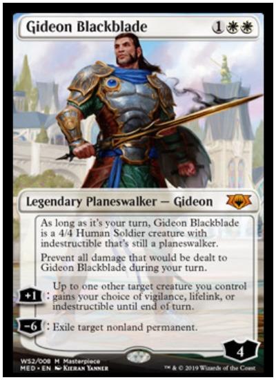 Gideon Blackblade Mythic Edition foil planeswalker MTG War of the Spark