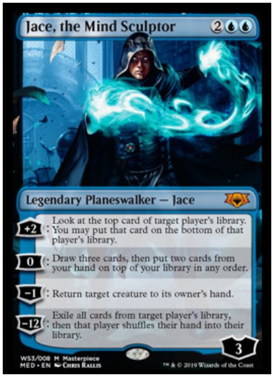 Jace, the Mind Sculptor Mythic Edition foil planeswalker MTG War of the Spark