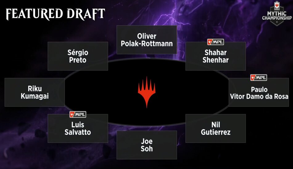 Mythic Championship II featured table War of the Spark draft