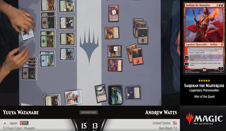 Watanabe and Watts round one Mythic Championship II Limited draft