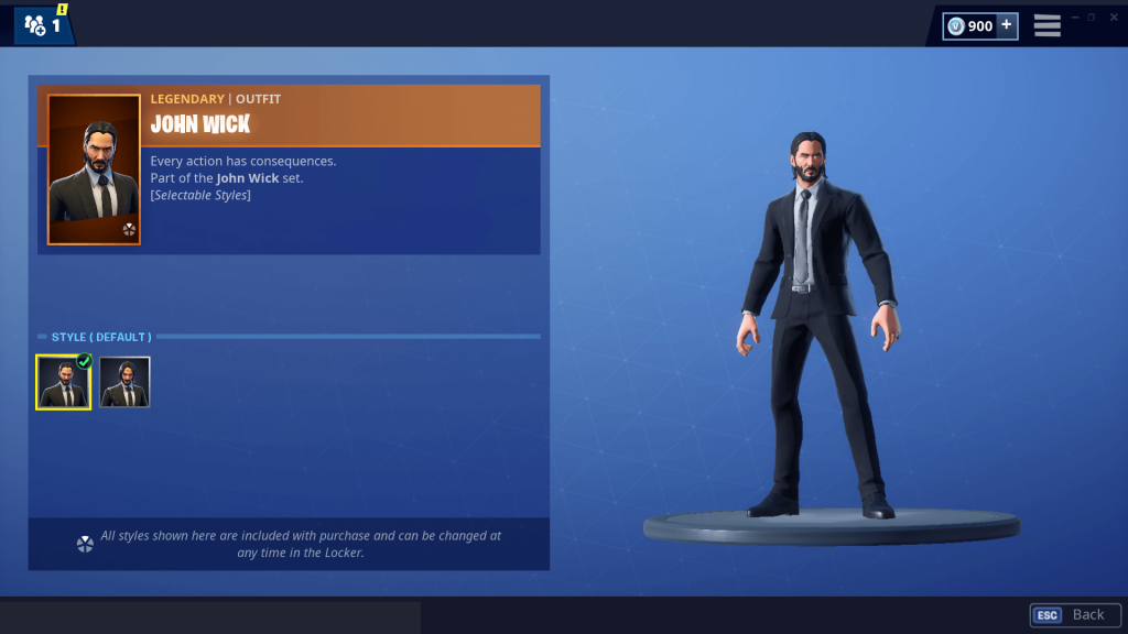 Fortnite John Wick : Fortnite new john wick skin gameplay!