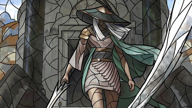 MTG Stained glass planeswalker The Wanderer