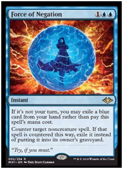 Modern Horizons Magic Force of Negation MTG NM//M