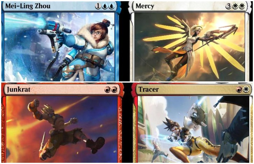 Fandom Overwatch and Magic: The Gathering crossover cards