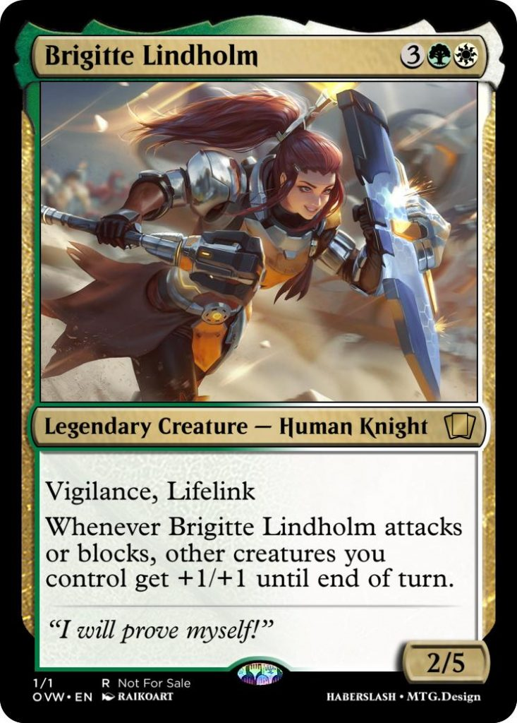 Brigitte Overwatch and Magic: The Gathering Crossover card