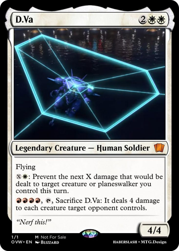 D.Va Overwatch and Magic: The Gathering crossover card