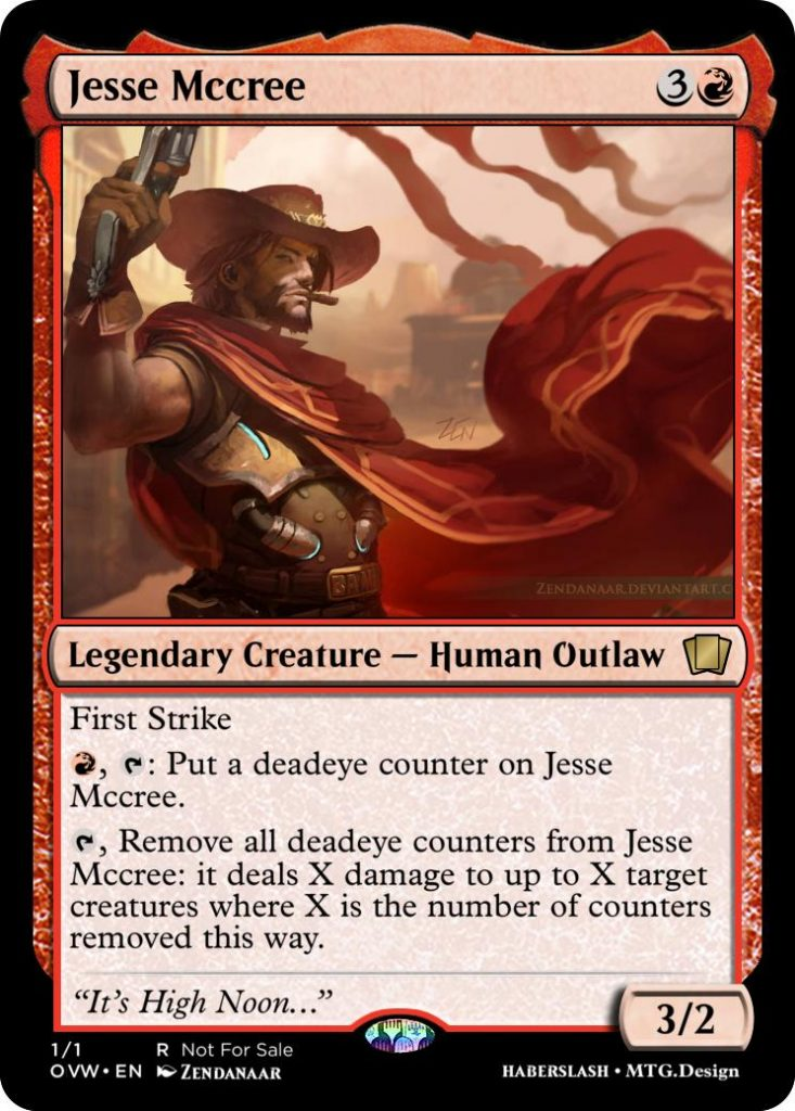 McCree Overwatch and Magic: The Gathering crossover card