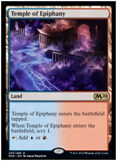 Temple of Epiphany MTG Core Set 2020