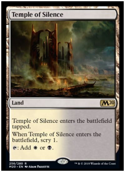 Mtg Dual Temple Lands Add Scry In Core Set 2020 Dot Esports orzhov basilica these more or less ensure your next land drop by forcing you to return a land to. mtg dual temple lands add scry in core