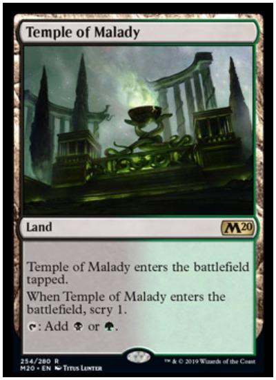 Temple of Malady MTG Core Set 2020