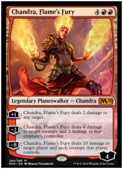 Chandra Flames' Fury MTG Core Set 2020