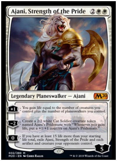 Ajani, Strength of the Pride MTG Core Set 2020