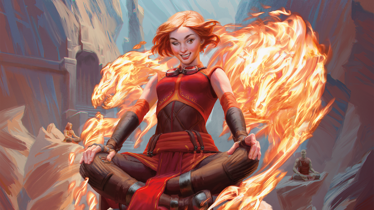 Chandra Acolyte of Flame Art Magic Core Set 2020