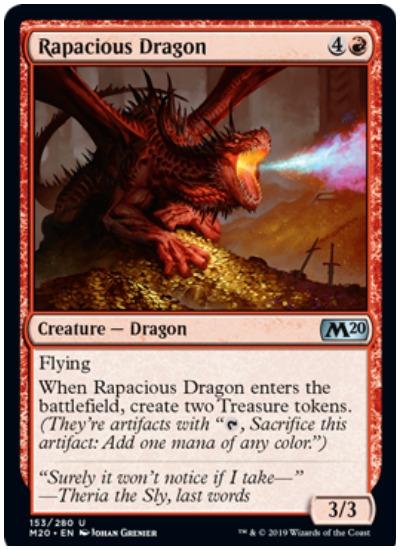 Rapacious Dragon MTG Core Set 2020 Red