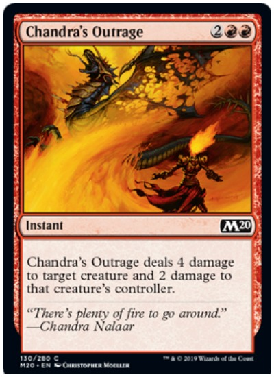 Chandra's Outrage MTG Core Set 2020 Red
