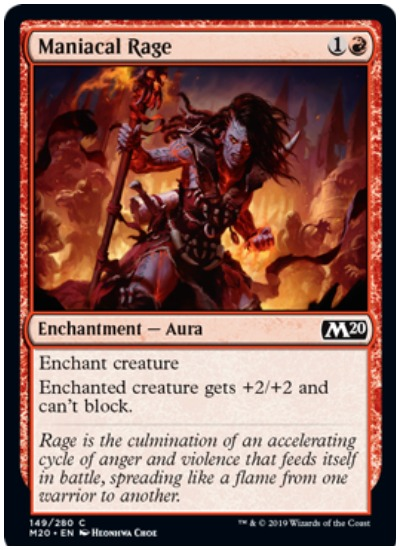 Maniacle Rage MTG Core Set 2020 Red