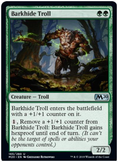 Barkhide Troll MTG Core Set 2020 Green