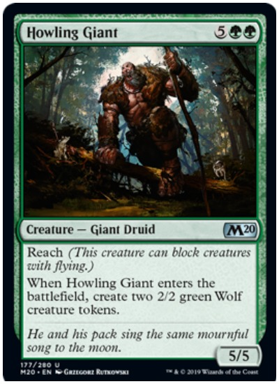 Howling Giant MTG Core Set 2020 Green