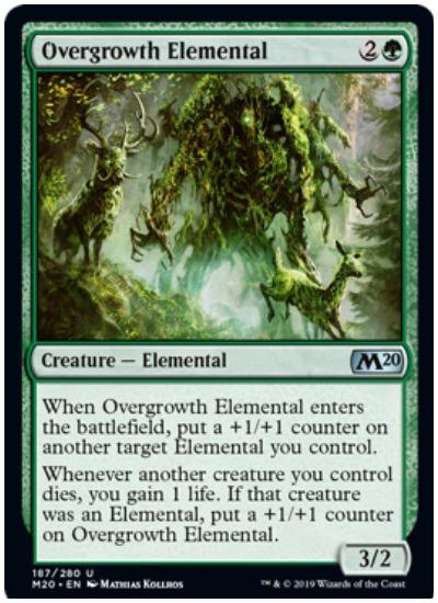 Overgrowth Elemental MTG Core Set 2020 Green
