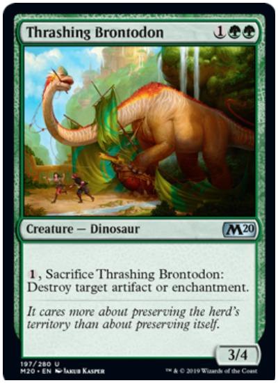 Thrashing Brontodon MTG Core Set 2020 Green