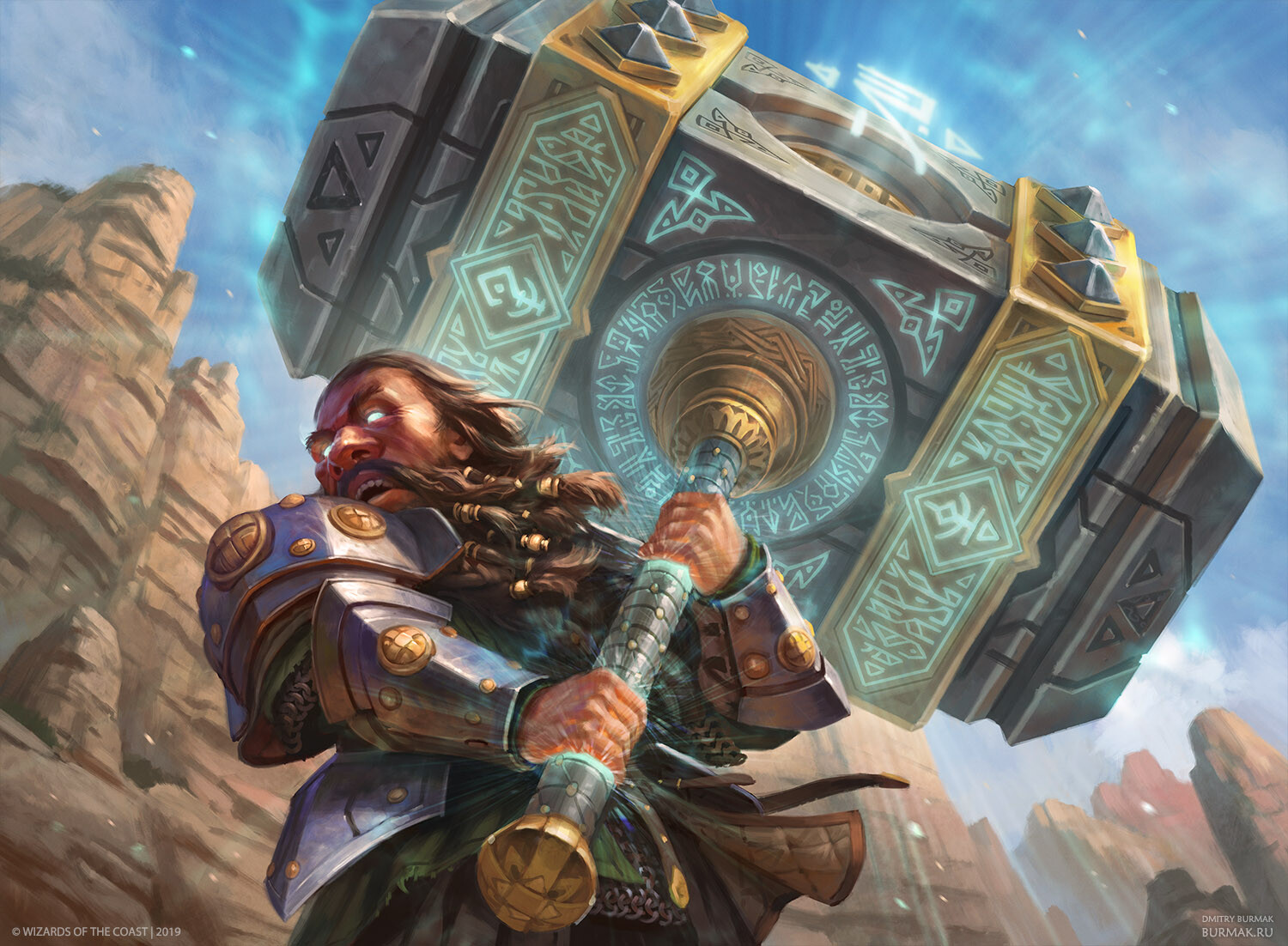 Colossus Hammer Art Magic Core Set 2020