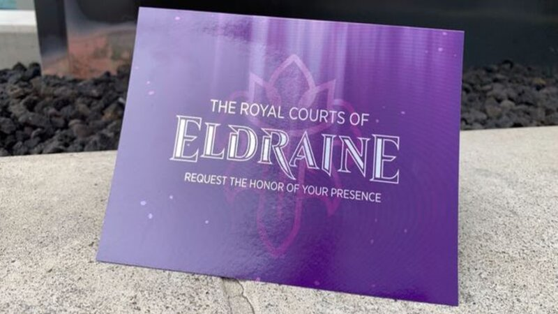 Magic The Gathering Throne of Eldraine name release at SDCC