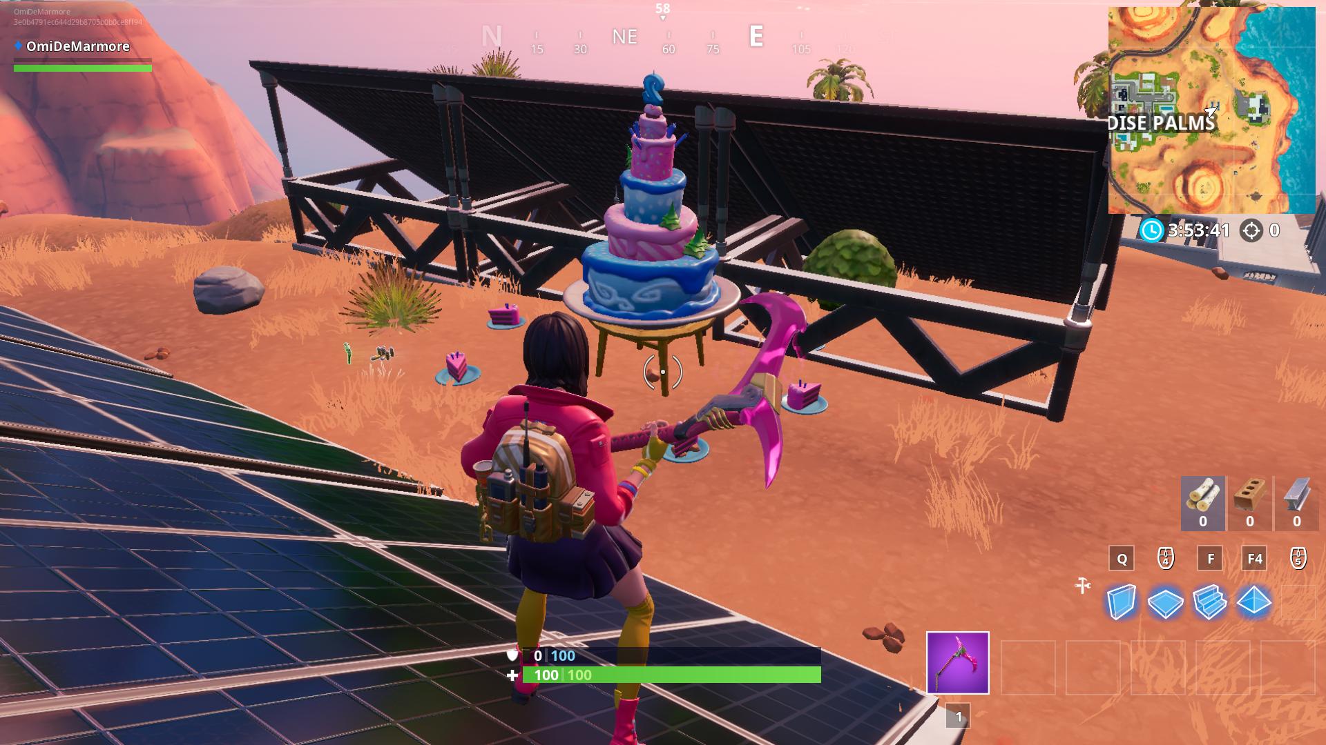 Fortnite 2nd Birthday All Birthday Cake Locations Dot Esports