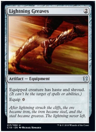 Lightning Greaves Commander 2019 MTG