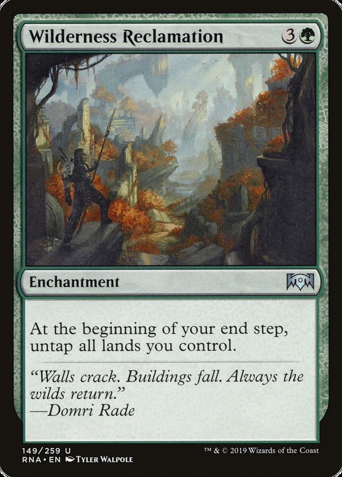 Wilderness Reclamation Magic Ravnica Allegiance